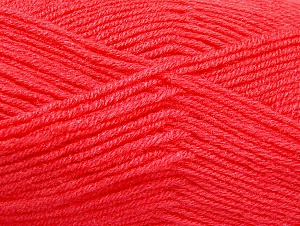 Fiber Content 50% Wool, 50% Acrylic, Salmon, Brand ICE, Yarn Thickness 4 Medium  Worsted, Afghan, Aran, fnt2-58563