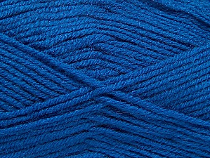 Vezelgehalte 50% Wol, 50% Acryl, Brand ICE, Blue, Yarn Thickness 4 Medium  Worsted, Afghan, Aran, fnt2-58692