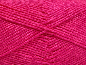 Fiber Content 50% Acrylic, 50% Bamboo, Brand ICE, Fuchsia, Yarn Thickness 2 Fine  Sport, Baby, fnt2-58694