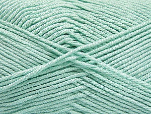 Fiber Content 50% Acrylic, 50% Bamboo, Mint Green, Brand ICE, Yarn Thickness 2 Fine  Sport, Baby, fnt2-58696