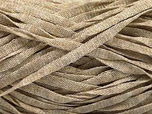 Fiber Content 82% Viscose, 18% Polyester, Brand ICE, Beige Melange, Yarn Thickness 5 Bulky  Chunky, Craft, Rug, fnt2-58898
