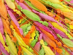 Fiber Content 100% Polyamide, Yellow, Pink, Orange, Brand ICE, Green, fnt2-58962