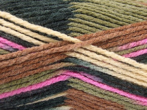 Fiber Content 80% Acrylic, 20% Polyamide, Pink, Khaki, Brand ICE, Cream, Brown, Black, Yarn Thickness 4 Medium  Worsted, Afghan, Aran, fnt2-58995