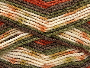 Fiber Content 75% Acrylic, 25% Wool, Khaki, Brand ICE, Cream, Copper, Brown, fnt2-59056