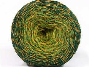 Fiber Content 75% Superwash Wool, 25% Polyamide, Brand ICE, Green Shades, Gold, fnt2-59068