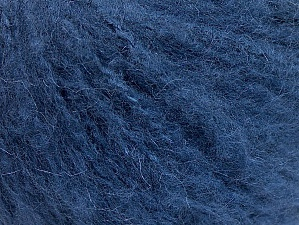 Fiber Content 70% Acrylic, 20% Mohair, 10% Wool, Navy, Brand ICE, Yarn Thickness 3 Light  DK, Light, Worsted, fnt2-59085