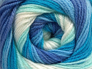 Fiber Content 100% Baby Acrylic, White, Turquoise, Lavender, Brand ICE, Blue, Yarn Thickness 2 Fine  Sport, Baby, fnt2-59313
