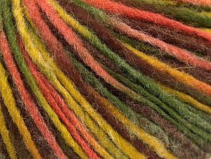 Fiber Content 50% Acrylic, 50% Wool, Salmon, Brand ICE, Green Shades, Brown, fnt2-59319