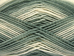 Fiber Content 100% Acrylic, White, Brand ICE, Grey Shades, Yarn Thickness 3 Light  DK, Light, Worsted, fnt2-59327