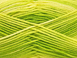 Fiber Content 100% Acrylic, Light Yellow, Brand ICE, Green Shades, Yarn Thickness 3 Light  DK, Light, Worsted, fnt2-59331