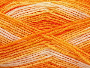 Fiber Content 100% Acrylic, Orange Shades, Brand ICE, Cream, Yarn Thickness 3 Light  DK, Light, Worsted, fnt2-59333