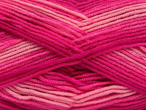 Fiber Content 100% Acrylic, Pink Shades, Brand ICE, Fuchsia, Yarn Thickness 3 Light  DK, Light, Worsted, fnt2-59335
