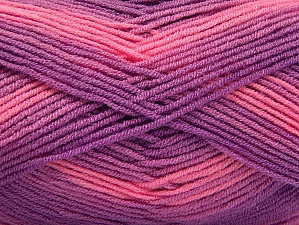Fiber Content 100% Acrylic, Pink, Lilac Shades, Brand ICE, Yarn Thickness 3 Light  DK, Light, Worsted, fnt2-59336