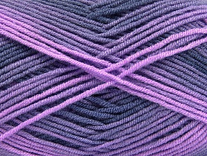 Fiber Content 100% Acrylic, Purple, Navy, Lilac Shades, Brand ICE, Yarn Thickness 3 Light  DK, Light, Worsted, fnt2-59337