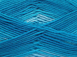 Fiber Content 100% Acrylic, Turquoise Shades, Brand ICE, Yarn Thickness 3 Light  DK, Light, Worsted, fnt2-59339