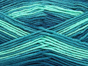 Fiber Content 100% Acrylic, Teal, Mint Green, Brand ICE, Yarn Thickness 3 Light  DK, Light, Worsted, fnt2-59340