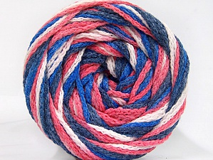 Fiber Content 50% Polyamide, 50% Acrylic, White, Salmon, Navy, Brand ICE, Blue, Yarn Thickness 5 Bulky  Chunky, Craft, Rug, fnt2-59347