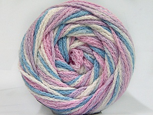 Fiber Content 50% Acrylic, 50% Polyamide, White, Light Pink, Light Lilac, Light Blue, Brand ICE, Yarn Thickness 5 Bulky  Chunky, Craft, Rug, fnt2-59357