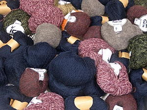 Winter Yarns This mixed lot includes a total of 2000 gr (70.5 oz.) yarn. There is no standard for ball weight. Also disregard any information on the labels. You will get what you see in the photo. Brand ICE, fnt2-59460