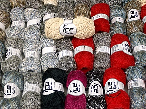 Summer Yarns This mixed lot includes a total of 2000 gr (70.5 oz.) yarn. There is no standard for ball weight. Also disregard any information on the labels. You will get what you see in the photo. Brand ICE, fnt2-59470