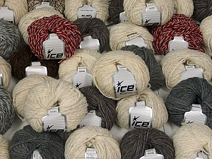 Winter Yarns This mixed lot includes a total of 2000 gr (70.5 oz.) yarn. There is no standard for ball weight. Also disregard any information on the labels. You will get what you see in the photo. Brand ICE, fnt2-59502