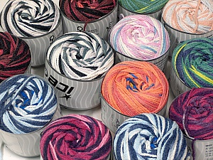 Cakes Air This mixed lot includes a total of 2000 gr (70.5 oz.) yarn. There is no standard for ball weight. Also disregard any information on the labels. You will get what you see in the photo. Fiber Content 50% Polyamide, 50% Acrylic, Brand ICE, fnt2-59514
