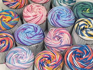 Cakes Air This mixed lot includes a total of 2000 gr (70.5 oz.) yarn. There is no standard for ball weight. Also disregard any information on the labels. You will get what you see in the photo. Fiber Content 50% Polyamide, 50% Acrylic, Brand ICE, fnt2-59515
