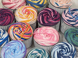 Cakes Air This mixed lot includes a total of 2000 gr (70.5 oz.) yarn. There is no standard for ball weight. Also disregard any information on the labels. You will get what you see in the photo. Fiber Content 50% Acrylic, 50% Polyamide, Brand ICE, fnt2-59517