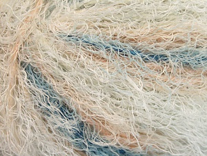 Fiber Content 40% Viscose, 30% Wool, 30% Polyamide, White, Light Salmon, Brand ICE, Blue, Yarn Thickness 5 Bulky  Chunky, Craft, Rug, fnt2-59581