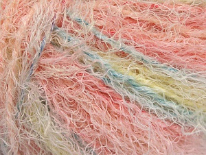 Fiber Content 40% Viscose, 30% Wool, 30% Polyamide, Pink Shades, Light Yellow, Brand ICE, Baby Blue, Yarn Thickness 5 Bulky  Chunky, Craft, Rug, fnt2-59583