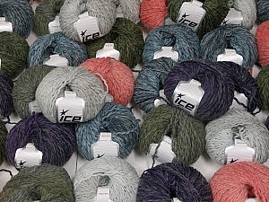 Sale Winter This mixed lot includes a total of 2000 gr (70.5 oz.) yarn. There is no standard for ball weight. Also disregard any information on the labels. You will get what you see in the photo. Fiber Content 45% Wool, 45% Acrylic, 10% Polyamide, Brand ICE, fnt2-59644
