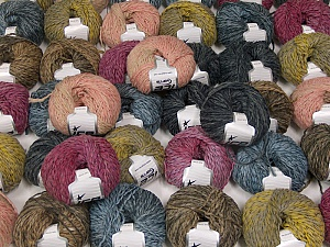Sale Winter This mixed lot includes a total of 2000 gr (70.5 oz.) yarn. There is no standard for ball weight. Also disregard any information on the labels. You will get what you see in the photo. Fiber Content 45% Acrylic, 45% Wool, 10% Polyamide, Brand ICE, fnt2-59648
