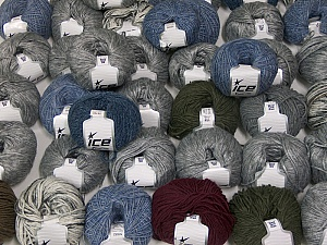 Winter Yarns This mixed lot includes a total of 2000 gr (70.5 oz.) yarn. There is no standard for ball weight. Also disregard any information on the labels. You will get what you see in the photo. Brand ICE, fnt2-59650