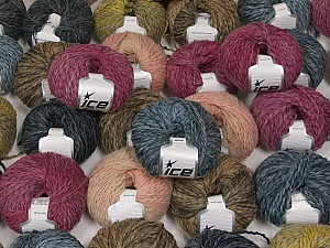 Sale Winter This mixed lot includes a total of 2000 gr (70.5 oz.) yarn. There is no standard for ball weight. Also disregard any information on the labels. You will get what you see in the photo. Fiber Content 45% Acrylic, 45% Wool, 10% Polyamide, Brand ICE, fnt2-59653
