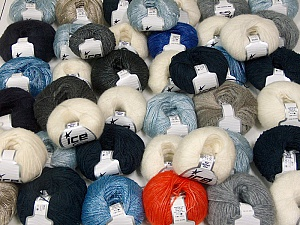 Winter Yarns This mixed lot includes a total of 2000 gr (70.5 oz.) yarn. There is no standard for ball weight. Also disregard any information on the labels. You will get what you see in the photo. Brand ICE, fnt2-59662