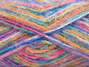 Fiber Content 60% Acrylic, 40% Polyamide, Yellow, Turquoise, Pink, Mint Green, Brand ICE, Blue, Yarn Thickness 4 Medium  Worsted, Afghan, Aran, fnt2-59692