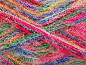 Fiber Content 60% Acrylic, 40% Polyamide, Neon Pink, Brand ICE, Green, Gold, Blue, Yarn Thickness 4 Medium  Worsted, Afghan, Aran, fnt2-59694
