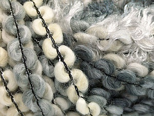 Fiber Content 50% Polyamide, 30% Wool, 20% Acrylic, White, Brand ICE, Grey Shades, Cream, fnt2-59698