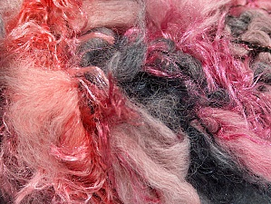 Fiber Content 50% Polyamide, 30% Wool, 20% Acrylic, Salmon, Pink, Brand ICE, Grey Shades, fnt2-59699