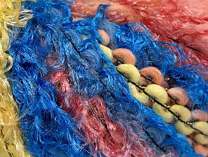Fiber Content 50% Polyamide, 30% Wool, 20% Acrylic, Yellow, Salmon Shades, Brand ICE, Blue, fnt2-59707