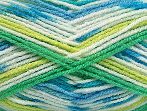 Fiber Content 100% Acrylic, White, Turquoise, Brand ICE, Green Shades, Blue, fnt2-59728