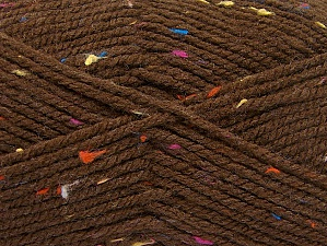 Fiber Content 95% Acrylic, 5% Viscose, Rainbow, Brand ICE, Brown, Yarn Thickness 4 Medium  Worsted, Afghan, Aran, fnt2-59762