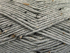 Fiber Content 95% Acrylic, 5% Viscose, Light Grey, Brand ICE, Brown Shades, Yarn Thickness 4 Medium  Worsted, Afghan, Aran, fnt2-59763