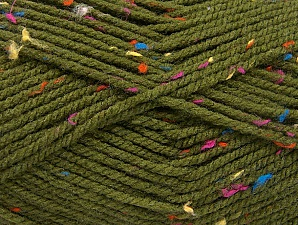 Fiber Content 95% Acrylic, 5% Viscose, Rainbow, Brand ICE, Dark Green, Yarn Thickness 4 Medium  Worsted, Afghan, Aran, fnt2-59766
