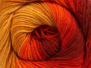 Fiber Content 70% Acrylic, 30% Merino Wool, Yellow, Red, Orange, Brand ICE, Gold, Yarn Thickness 2 Fine  Sport, Baby, fnt2-59773