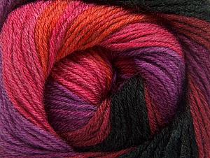 Fiber Content 70% Acrylic, 30% Merino Wool, Purple, Pink, Orange, Brand ICE, Burgundy, Black, fnt2-59778