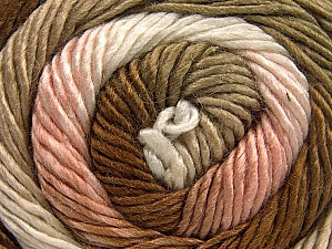 Fiber Content 50% Acrylic, 50% Wool, Rose Pink, Khaki, Brand ICE, Cream, Camel, Yarn Thickness 2 Fine  Sport, Baby, fnt2-59783