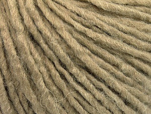 Fiber Content 50% Acrylic, 50% Wool, Brand ICE, Dark Beige, Yarn Thickness 4 Medium  Worsted, Afghan, Aran, fnt2-59804