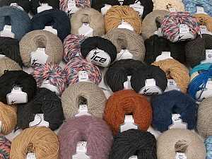 Winter Yarns This mixed lot includes a total of 2000 gr (70.5 oz.) yarn. There is no standard for ball weight. Also disregard any information on the labels. You will get what you see in the photo. Brand ICE, fnt2-59870