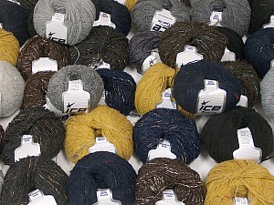 Winter Yarns This mixed lot includes a total of 2000 gr (70.5 oz.) yarn. There is no standard for ball weight. Also disregard any information on the labels. You will get what you see in the photo. Brand ICE, fnt2-59932